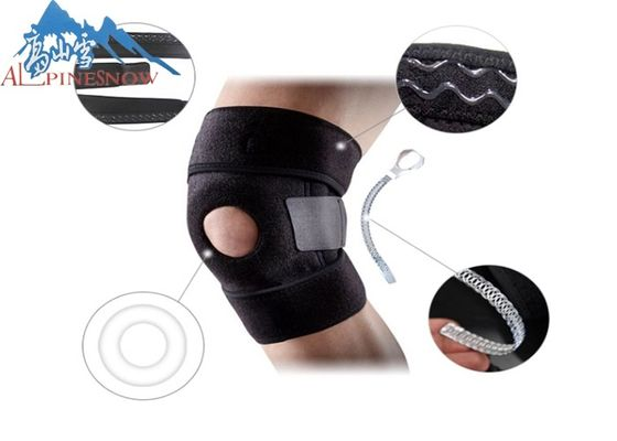 China Sport-Badminton-Knie-Stützverband-Basketball/laufende Breathable elastische mechanische Kniestütze usine